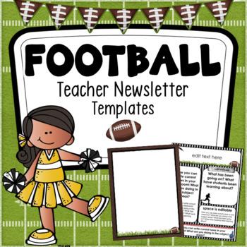 Football Teacher Newsletter Templates