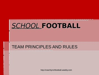 Football Team Policies