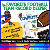 Football Team Record Tracker ... Build Community, Conversation, and Math Skills!