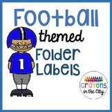 Football Team Sports Take Home Folder Labels