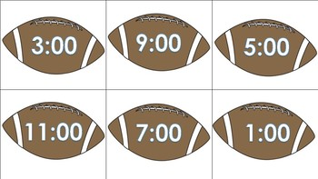 Football Telling Time Math Center Activity