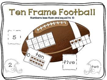 Football Ten-Frame Activities
