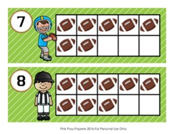Football Ten Frame Cards