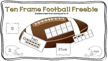 Football Ten-Frame Freebie