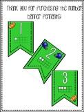 Football Theme 1-20 Banner Pennants
