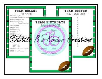 Football Theme Classroom