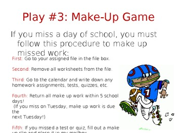 Football Theme Classroom Management Plan and Powerpoint