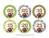 Football Theme Clock Number Labels