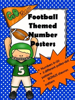 """""""Football Theme"""" Inspired Number Posters"""