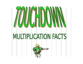 Football Theme Multiplication Progress Chart