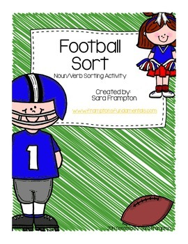 Football Theme- Noun Verb Sort