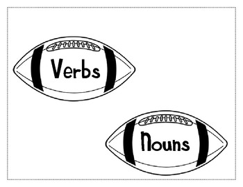 Football Theme Noun and Verb Sort