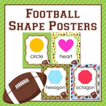 Football Theme Shape Posters