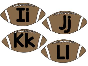 Football Theme Word Wall Letter Headings