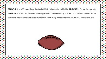 Football Themed 2 Step Word Problems