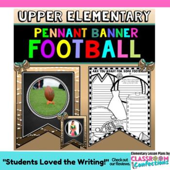 Football Themed Activity: Football Banner: Football Writing Activity