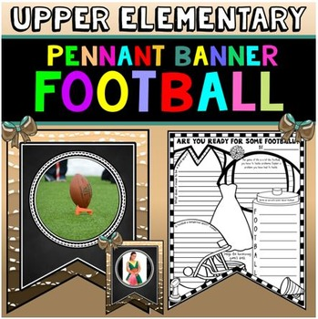 Football Themed Activity: Football Banner: Football Writin