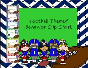 Football Themed Behavior Clip Chart