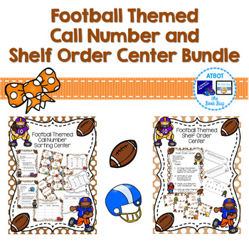 Football Themed Call Number and Shelf Order Center Bundle