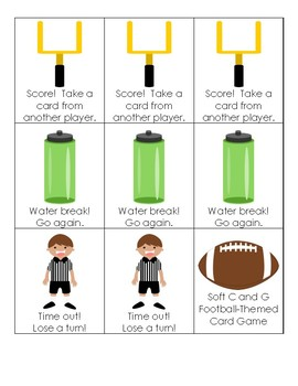 Football-Themed Card Game for Soft C and G Decoding Practice