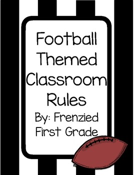 Football Themed Classroom Rules