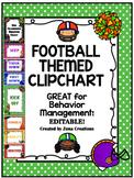 {Editable} Football Theme Clip Chart Behavior Management System