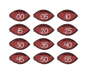 Football Themed Clock Labels