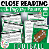 Football Themed Close Reading Comprehension Passages   ELA Test Prep