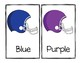 Football Themed Color Word Posters