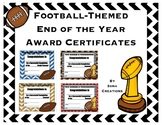 Football Themed End of the Year Awards
