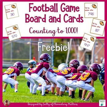 Counting to 1000 Football Freebie