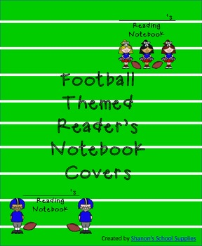 Football Themed Interactive Reading Notebook Covers