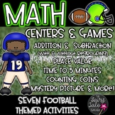 Math Centers, Activities, Games, & Worksheets Football Themed