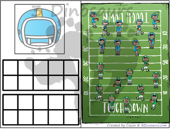 Football Themed Number Counting Mats
