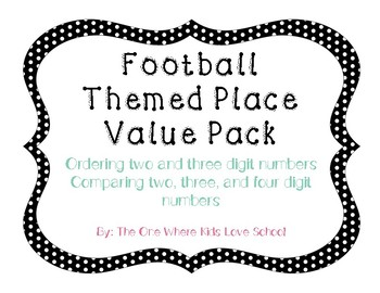 Football Themed Place Value Pack