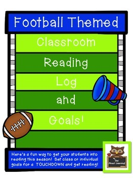 Football Themed Reading Log for Classroom and/or Home!