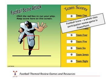 Football Themed Resources and Review Games