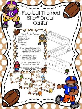 Football Themed Shelf Order Center