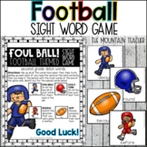 Football Themed Sight Word Game