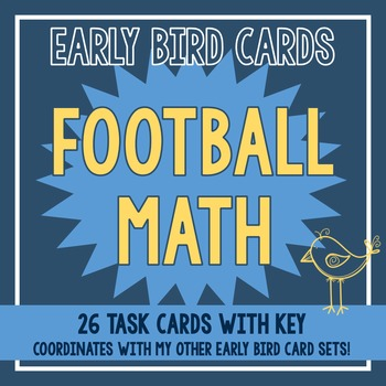 Football Themed Task Cards
