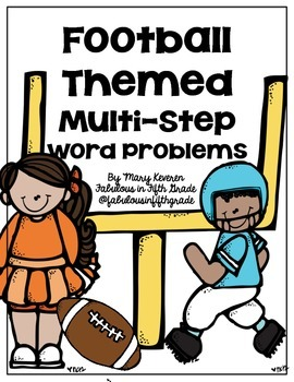 Football Themed Word Problem Freebie!