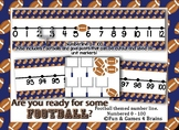 Football Themed number line 0-100