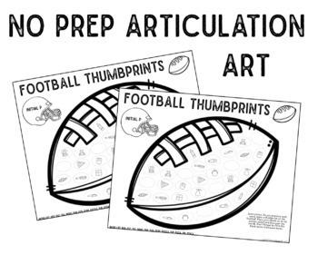 Football Thumbprints: A Speech Therapy Art Activity