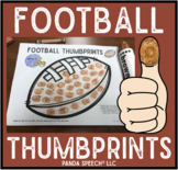 Football Thumbprints: A Speech Therapy Art Activity