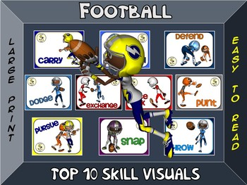 Football- Top 10 Skill Visuals- Simple Large Print Design