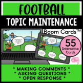 Football Topic Maintenance No Prep Speech Therapy Boom Cards™