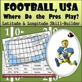 Latitude and Longitude Worksheet - Football, USA