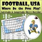 Latitude and Longitude Activity - Football, USA