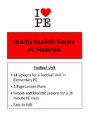 Football Unit - 11 Lesson Plans - Elementary PE