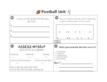 Football Unit Worksheet